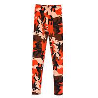 Women Slim Skinny New Print Punk Funky Stretch Pencil Tights Pants Trousers