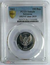 2003 Indonesia  200 Rupiah 2003  PCGS
