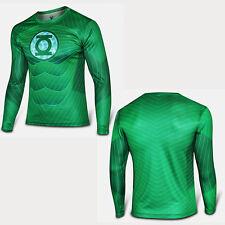 Mens Boys Comics Superhero Costume T-Shirt Long Sleeve Sports Jersey Shirts Tops