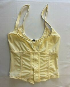Out From Under Yellow Sheer Button Up Top Size S New Missing Tags