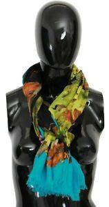 DOLCE & GABBANA Scarf Modal Multicolor Grapes Print Shawl 130cm x 190cm