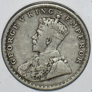 British India 1918 Rupee 193290 combine