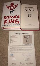 STEPHEN KING SIGNED IT HARDCOVER BOOK AUTHOR MOVIE PENNYWISE NEW 2017 JSA
