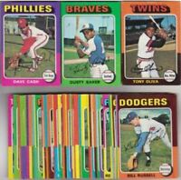 1975 Topps Baseball U Pick Complete Your Set