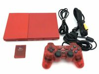 Sony PlayStation 2 Slim Red Console Limited Color SCPH-90000 From Japan