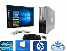 FAST HP Desktop PC Computer Core 2 Duo 4GB 80GB Windows 10 AND 17