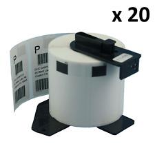 20 X DK11209 compatible (62 X 29mm) blanco encaja hermano QL-570 etiquetas de dirección