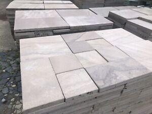 Terrassenplatten Sandstein Hell Braun Römischer Verband 1 qm