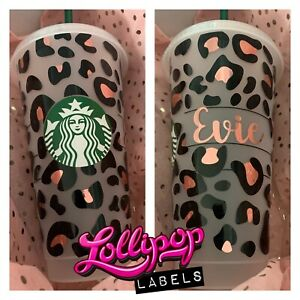 Personalised Starbucks tumbler with straw / personalised Gift / Reusable Cup