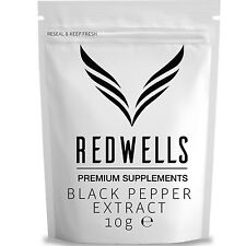 BLACK PEPPER EXTRACT 10g • PIPERINE 95% • FAST DESPATCH • FREE SCOOP