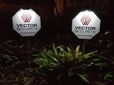2  -  Vector Security Yard Signs w/ 6 Door/Window Deals &   2- Solar Lights