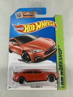 Hot Wheels - Tesla Model S (2014 HW Workshop Red - Diecast 1:64 - BOXED SHIPPING