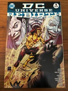 DC Universe Rebirth #1 4th printing 3 Jokers cover signed Ethan Van Sciver