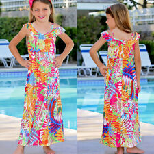 Mommy and Me Family Matching Dress Mother Daughter Floral Holiday Maxi Dress US