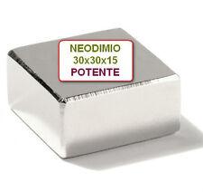 Calamite Magnetoterapia Magia MAGNETI 30x30x15 mm. 80 kg N45 MAGNETE NEODIMIO