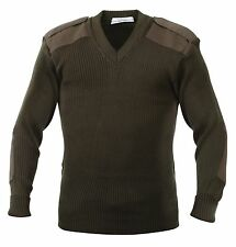 Rothco Acrylic V-neck Sweater 2x-large Olive Drab