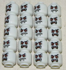 LEGO LOT OF 20 NEW DUAL SIDED MONSTER VAMPIRE HEADS WITH FANGS GLOW IN THE DARK