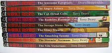 9 Horrible Histories Books by Terry Deary. The Vile Victorians, Slimy Stuarts