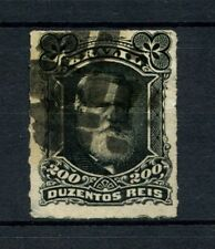 Brazil 1878-9 SG#62 200R Emperor Pedro II Rouletted Used #A22857