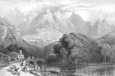 Portugal, LISBON COAST SINTRA ~ Antique 1832 Art Print