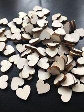 200 Streudeko Holz Herz Tischdeko Natur Hochzeit Dekoherzen Streuteile MINI Herz