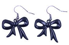 Pretty black cutout bow dangle earrings