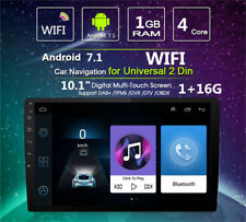 """10.1"""" 2DIN Android 7.1 Car GPS Stereo Radio Player Quad-Core BT Wifi Mirror Link"""