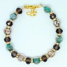 Multicolore Perlina ARTIGIANALE autentico Murano Vetro Veneziana bracciale