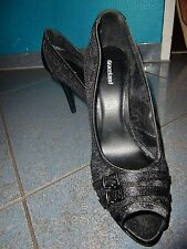 Elegante Greceland Pumps Schuhe mit Spitze Textil schwarz Gr. 38 Neu !!!