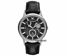 EMPORIO ARMANI Meccanico RENATO Automatic Steel-Black Alligator Leather AR4659