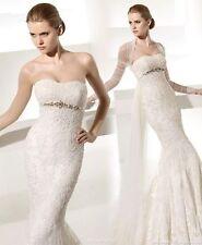 Mermaid & Trumpet Lace Strapless Wedding Dresses