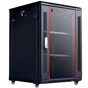 "18U 24"" Deep Wall Mount IT Network Server Rack Cabinet Enclosure. Accessories!"