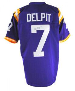 Grant Delpit Signed LSU Tigers Jersey (JSA COA) Cleveland Browns 2020 2nd Rnd Pk