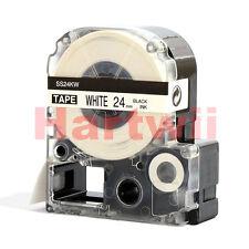 "Epson Lc-6wbn Compatible Standard LC Label Tape Black on White 24mm 8m 1 X 26"""