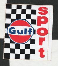 GULF SPORT RACING LE MANS PORSCHE 917 FORD ORIGINAL PERIOD STICKER AUTOCOLLANT