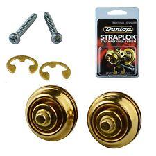 Dunlop Guitar Mount Straplocks Locking Strap Buttons (Traditional Fitting) Brass