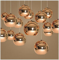 Glass Ceiling Lamp LED Pendant Light Fixture Chandelier For Dining Room Lighting