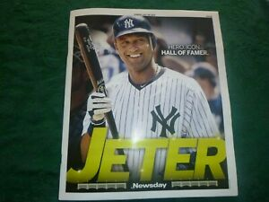 Derek Jeter Hall of Fame Newsday 7-25-21 Glossy Magizine