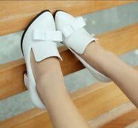 Ladies Fashion Vintage Pointy Toe Bow-Knot Pumps High Heels Shoes Plus UK Size