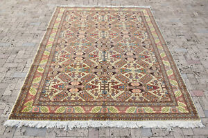Turkish Rug 77''x115'' Bunyan Carpet Vintage 196x294cm Oriental Tribal Rug 6x9