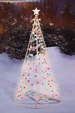 NEW 7 FT LIT TWINKLE STRING CONE TREE MULTI COLOR CHRISTMAS OUTDOOR DECORATION