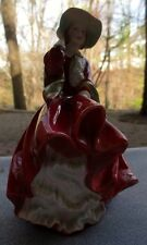 Vintage Royal Doulton Top o' the Hill Lady Figurine in Red Hand Painted HN1834BF