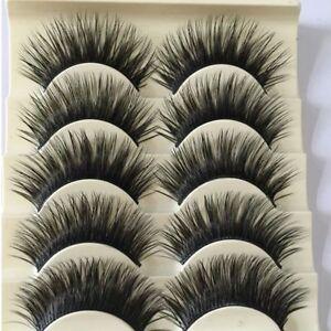 5 Pairs False Eyelashes Thick Long Strip Extension Fake Lashes MakeUp Hot