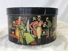 Vtg Knox Top / Stetson Base Decorative Hat Box Antique Victorian Men Women Large