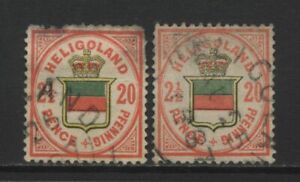 Heligoland 2½ / 20Pf Stamps Used
