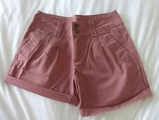 ladies pinky/ brown shorts cotton Size 8 worn once Immaculate