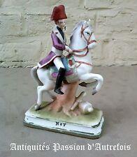 """B2017528 - Figurine """" Ney """" à cheval en biscuit de porcelaine - 1950-70"""