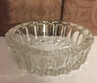 Crystal Candy Dish Bowl/Ashtray Clear Glass Made in Indonesia