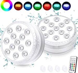 Luci Colorate LED Subacquee per Decorazione Piscina Acquari Vasi con Telecomado