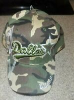 Dallas  CAMO Hat Cap Script Visor Embroidered Signature Double Cowboys Star